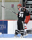 Chris Rooney (PC - 21), Patrick MacGregor (BU - 4) - The Boston University Terriers defeated the visiting Providence College Friars 6-1 on Friday, January 20, 2012, at Agganis Arena in Boston, Massachusetts.