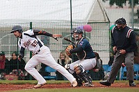 17 October 2010: Florian Peyrichou of Savigny is seen at bat during Rouen 10-5 win over Savigny, during game 2 of the French championship finals, in Savigny sur Orge, France.