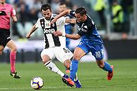 Miralem Pjanic of Juventus , Ismael Bennacer of Empoli <br /> Torino 30-03-2019 Allianz Stadium <br /> Football Serie A 2018/2019 Juventus - Empoli <br /> Photo  Daniele Buffa / Image Sport / Insidefoto