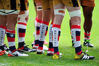 A general view of a Bristol Rugby coloured socks. Aviva Premiership match, between Wasps and Bristol Rugby on September 18, 2016 at the Ricoh Arena in Coventry, England. Photo by: Patrick Khachfe / JMP