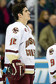Brian Boyle (Boston College - Hingham, MA) - The Boston College Eagles defeated the Miami University Redhawks 4-0 in the 2007 NCAA Northeast Regional Final on Sunday, March 25, 2007 at the Verizon Wireless Arena in Manchester, New Hampshire.