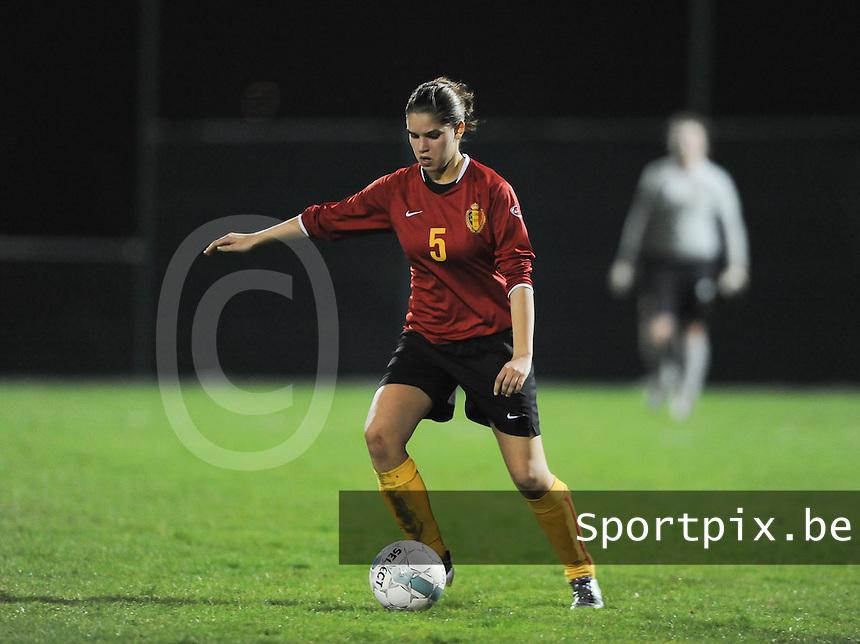 Belgium U19 - Wales U19 : Anais Renier<br /> foto David Catry / nikonpro.be