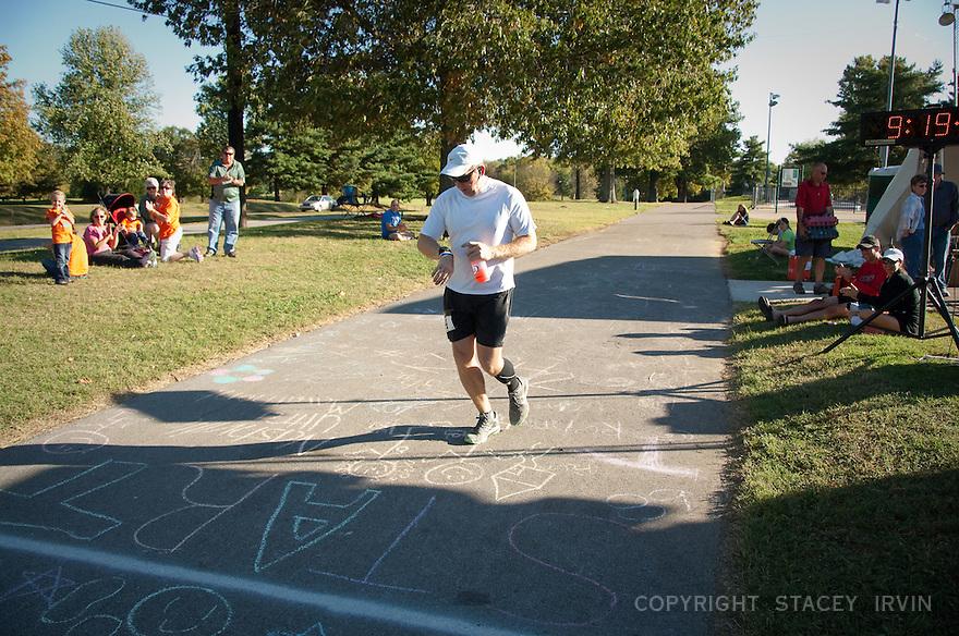 Nashville Ultra Marathon Finish Line - 10/15/11.
