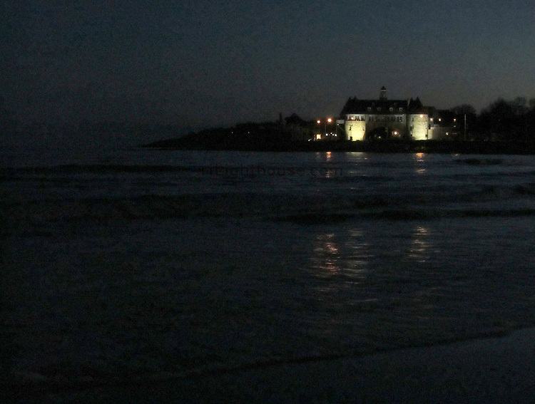 A nice evening stroll on Narragansett Beach just after Sunset. It was a 60 degree day in January 2012.