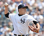 Masahiro Tanaka (Yankees), JUNE 22, 2014 - MLB : Masahiro Tanaka of the New York Yankees in action during the Major League Baseball game against the Baltimore Orioles at Yankee Stadium in the Bronx, NY, USA. (Photo by AFLO)