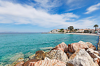 The beach at the town of Spetses island, Greece