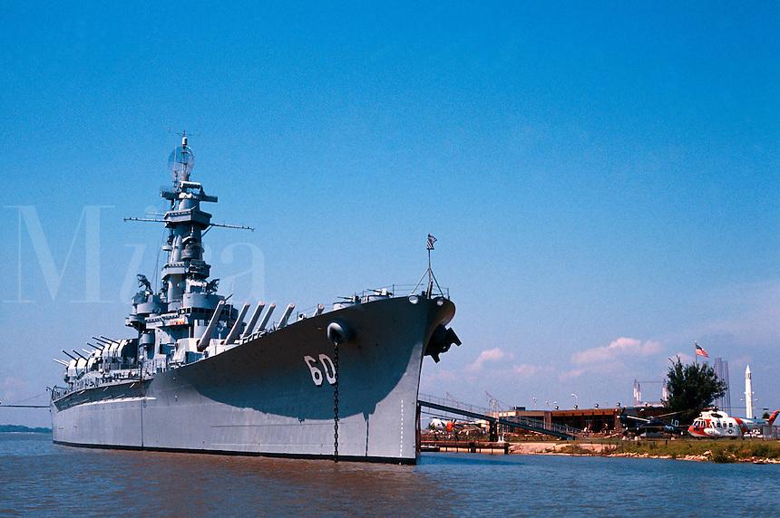 USS Alabama battleship, now a museum docked in Mobile, Alabama. Mobile Alabama United States.