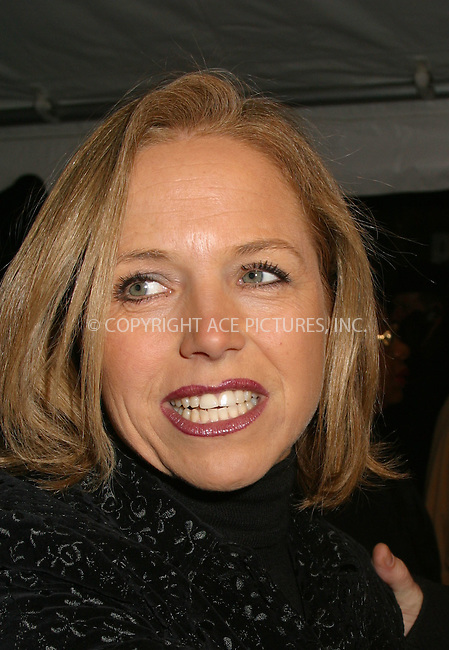 "Katie Couric at the opening of ""La Boheme"" on Broadway. New York, December 8, 2002. Please byline: Alecsey Boldeskul/NY Photo Press.   ..*PAY-PER-USE*      ....NY Photo Press:  ..phone (646) 267-6913;   ..e-mail: info@nyphotopress.com"