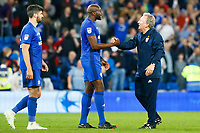 Cardiff City manager Neil Warnock after the final whistle applauds the fans during the Sky Bet Championship match between Cardiff City and Nottingham Forest at the Cardiff City Stadium, Wales, UK. Saturday 21 April 2018