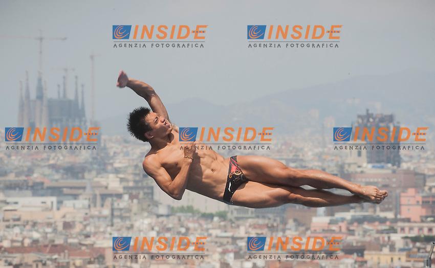 Sun Zhiyi CHN<br /> Men's 1m Springboard preliminaries <br /> 15th FINA World Aquatics Championships<br /> Barcelona 19 July - 4 August 2013<br /> Piscina Municipal de Montjuic, Barcelona (Spain) 20/07/2013 <br /> &copy; Giorgio Perottino / Deepbluemedia.eu / Insidefoto