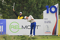 Haydn Porteous (RSA) on the 10th tee during Round 2 of the D+D Real Czech Masters at the Albatross Golf Resort, Prague, Czech Rep. 02/09/2017<br /> Picture: Golffile | Thos Caffrey<br /> <br /> <br /> All photo usage must carry mandatory copyright credit     (&copy; Golffile | Thos Caffrey)