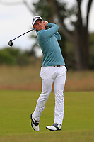 Grant Forrest (SCO) on the 1st during Round 2 of the Aberdeen Standard Investments Scottish Open 2019 at The Renaissance Club, North Berwick, Scotland on Friday 12th July 2019.<br /> Picture:  Thos Caffrey / Golffile<br /> <br /> All photos usage must carry mandatory copyright credit (© Golffile | Thos Caffrey)
