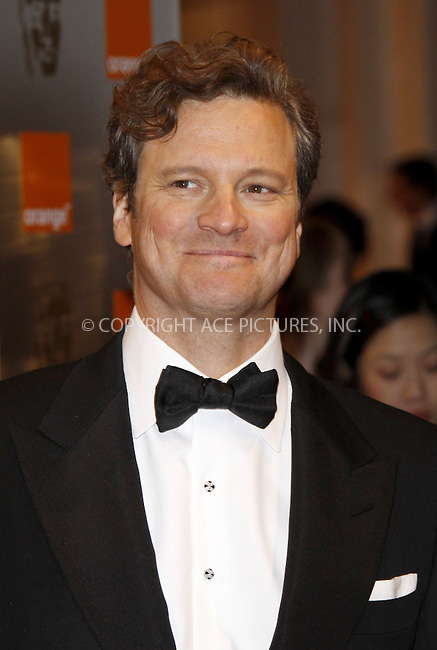 WWW.ACEPIXS.COM . . . . .  ..... . . . . US SALES ONLY . . . . .....February 21 2010, London....Colin Firth at the Orange British Academy Film Awards (BAFTA's) on February 21 2010 in London......Please byline: FAMOUS-ACE PICTURES... . . . .  ....Ace Pictures, Inc:  ..tel: (212) 243 8787 or (646) 769 0430..e-mail: info@acepixs.com..web: http://www.acepixs.com