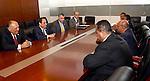 Egypt's President Abdel Fattah al-Sisi meets with Sudan's President Omar al-Bashir, in Ethiopia's capital Addis Ababa, January 30, 2016. Photo by Egyptian President Office