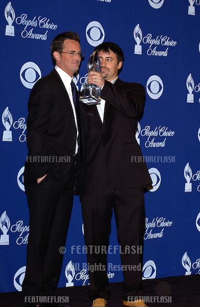 MATTHEW PERRY (left) & MATT LEBLANC at the 30th Annual People's Choice Awards in Pasadena, CA..January 11, 2004