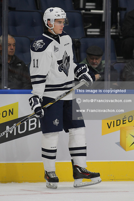 QMJHL (LHJMQ) hockey profile photo on Rimouski Oceanic Pierre-Olivier Demers October 8, 2015 at the Centre Videotron in Quebec city.