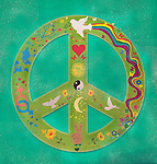 Illustrative image of peace symbol