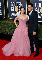 LOS ANGELES, CA. January 06, 2019: Emmy Rossum &  Sam Esmail at the 2019 Golden Globe Awards at the Beverly Hilton Hotel.<br /> Picture: Paul Smith/Featureflash