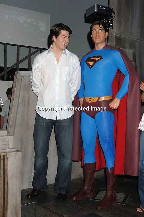 "Superman Wax Figure and Brandon Routh..at Madame Tussaud's Wax Museum to launch wax figure ..of Superman for the new movie ""Superman Returns"" ..on June 27, 2006. ..Robin Platzer, Twin Images"