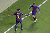 FC Barcelona's Luis Suarez (l) and Philippe Coutinho celebrate goal during Spanish King's Cup Final match. April 21,2018. (ALTERPHOTOS/Acero)
