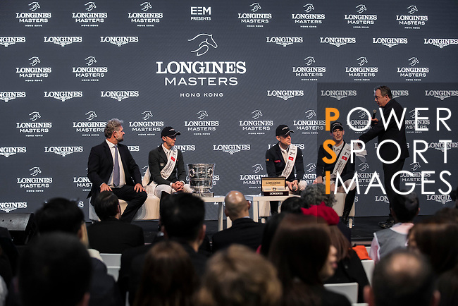 Press Conference of the Longines Grand Prix during the Longines Masters of Hong Kong at AsiaWorld-Expo on 11 February 2018, in Hong Kong, Hong Kong. Photo by Ian Walton / Power Sport Images