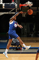 Nick Faust at the NBPA Top100 camp at the John Paul Jones Arena Charlottesville, VA. Visit www.nbpatop100.blogspot.com for more photos. (Photo © Andrew Shurtleff)