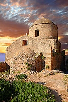 Medieval Byzantine Orthodox Church of Monemvasia (  ),   Peloponnese, Greece