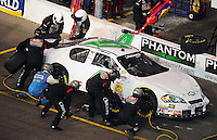 Apr 11, 2008; Avondale, AZ, USA; NASCAR Nationwide Series driver Robert Richardson pits during the Bashas Supermarkets 200 at the Phoenix International Raceway. Mandatory Credit: Mark J. Rebilas-