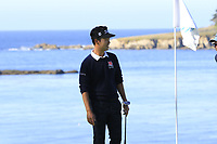 Kevin Na (USA) at the 5th green during Sunday's Final Round of the 2018 AT&amp;T Pebble Beach Pro-Am, held on Pebble Beach Golf Course, Monterey,  California, USA. 11th February 2018.<br /> Picture: Eoin Clarke | Golffile<br /> <br /> <br /> All photos usage must carry mandatory copyright credit (&copy; Golffile | Eoin Clarke)