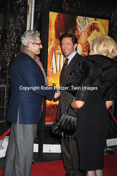 "Michael Nouri and Hugh Jackman..posing for photographers at The New York Movie Premiere of ""Australia"" on November 24, 2008 at The Ziegfeld Theatre. ....Robin Platzer, Twin Images....212-935-0770"