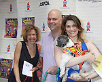 """One Life To Live Jackie Hoffman """"Eunice"""" & ATWT """"Miranda"""" stars with Brad Oscar and Heidi Blickenstaff in """"The Adams Family"""" as they attend Broadway Barks Lucky 13th Annual Adopt-a-thon - A """"Pawpular"""" Star-studded dog and cat adopt-a-thon on July 9, 2011 in Shubert Alley, New York City, New York with Bernadette Peters and Mary Tyler Moore as hosts.  (Photo by Sue Coflin/Max Photos)"""