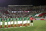 1 March 2006: Mexico's Starting eleven salute the flag during the national anthem, pregame. The National Team of Mexico defeated the National Team of Ghana 1-0 at Pizza Hut Park in Frisco, Texas in an International Friendly soccer match.