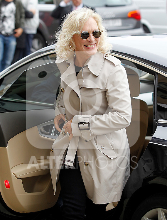 US actress Glenn Close smiles as she arrives at the Northern Spanish Basque city of San Sebastian to take part in the 59th San Sebastian Donostia International Film Festival - Zinemaldia.September 17,2011.(ALTERPHOTOS/ALFAQUI/Acero)