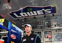 Nov. 20, 2009; Homestead, FL, USA; NASCAR Sprint Cup Series crew chief Chad Knaus during practice for the Ford 400 at Homestead Miami Speedway. Mandatory Credit: Mark J. Rebilas-