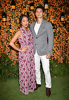 PACIFIC PALISADES, CA - OCTOBER 06: Harry Shum Jr.(R) and Shelby Rabara arrive at the 9th Annual Veuve Clicquot Polo Classic Los Angeles at Will Rogers State Historic Park on October 6, 2018 in Pacific Palisades, California.<br /> CAP/ROT/TM<br /> &copy;TM/ROT/Capital Pictures