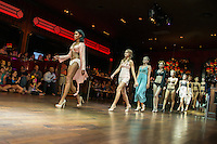 """Hot, hot, hot!"" runway show during St. Charles Fashion Week at Ameristar Casino in St. Charles, MO on Aug 25, 2012."