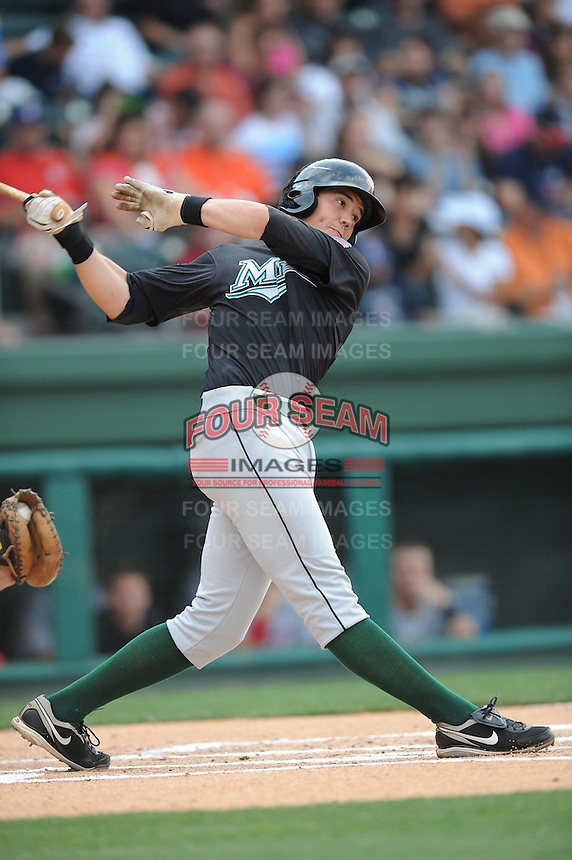 Greensboro Grasshoppers Kyle Skipworth South Atlantic League All Star Game at Fluor Field in Greenville, South Carolina June 22, 2010.   The game ended in a 5-5 tie.  Photo By Tony Farlow/Four Seam Images
