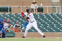 Salt River Rafters third baseman Jake Noll (17), of the Washington Nationals organization, at bat during an Arizona Fall League game against the Surprise Saguaros at Salt River Fields at Talking Stick on October 23, 2018 in Scottsdale, Arizona. Salt River defeated Surprise 7-5 . (Zachary Lucy/Four Seam Images)