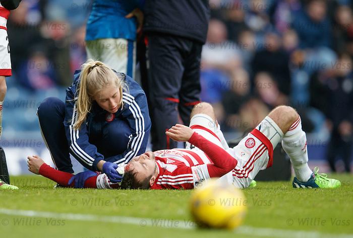 Blair Adams head injury