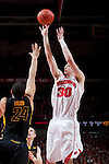 March 3, 2010: Wisconsin Badgers forward Jon Leuer (30) shoots the ball during a Big Ten Conference NCAA basketball game against the Iowa Hawkeyes at the Kohl Center on March 3, 2010 in Madison, Wisconsin. The Badgers won 67-40. (Photo by David Stluka)