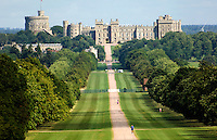 The Long Walk through Windsor Great Park to Windsor Castle.