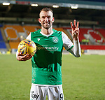 09.11.2019 St Johnstone v Hibs: Christian Doidge with the matchball after scoring a hat-trick