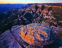 Copper Canyon at dawn Copper Canyon National Park, Chihuahua, Mexico  Rio Urique below  View at Divisadero  Tarahumara Indian land  March
