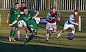 Stirling's Chris Geddes scores their second goal from the penalty spot.
