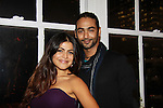 One Life To Live's Shenaz Treasury poses with freind Shayan at Let's Celebrate - The Diva Gals Style Lounge on October 5, 2011 at Select Strands, New York City, New York. DivaGalsDaily.com is the premier website inspiring DivaGals around the globe to celebrate evry living moment in a savvy, sophisticated and social way.  (Photo by Sue Coflin/Max Photos)