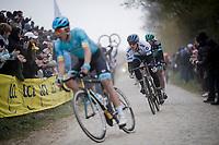 Matteo TRENTIN (ITA/Mitchelton-Scott)<br /> <br /> 117th Paris-Roubaix 2019 (1.UWT)<br /> One day race from Compiègne to Roubaix (FRA/257km)<br /> <br /> ©kramon