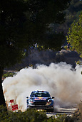 6th October 2017, Costa Daurada, Salou, Spain; FIA World Rally Championship, RallyRACC Catalunya, Spanish Rally; Sebastien Ogier and his co-driver Julien Ingrassia of France compete in their M Sport World Rally Team Ford Fiesta WRC during the Terra Alta stage