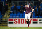 St Johnstone v Hearts&hellip;23.12.17&hellip;  McDiarmid Park&hellip;  SPFL<br />Jamie Walker trudges off a full time<br />Picture by Graeme Hart. <br />Copyright Perthshire Picture Agency<br />Tel: 01738 623350  Mobile: 07990 594431