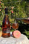 Glow, Rosé hard cider, Burnt Branch Reserve, Aplenfire Organic Hard Cider, Alpenfire Orchard, Port Townsend, Washington State, red flesh apples,
