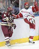 Nathan Gerbe, Jeff Likens - The University of Wisconsin Badgers defeated the Boston College Eagles 2-1 on Saturday, April 8, 2006, at the Bradley Center in Milwaukee, Wisconsin in the 2006 Frozen Four Final to take the national Title.